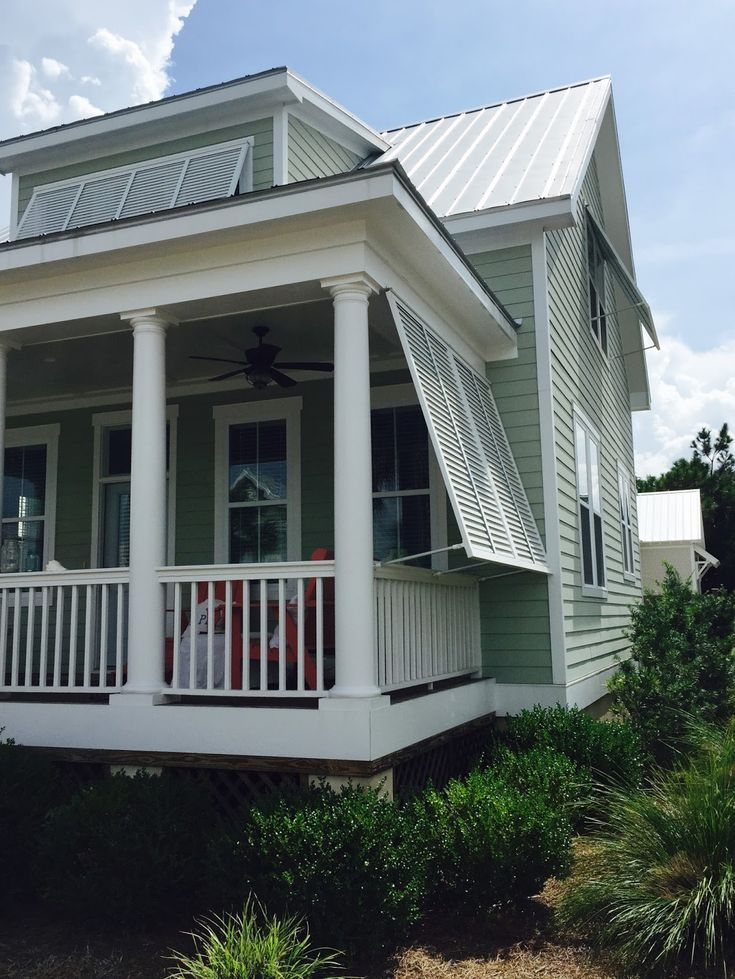 Beach House Porch With Bahama Shutters My Seashore