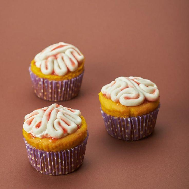 Pompoen én 'hersenen': deze cupcakes zijn ideaal voor Halloween!