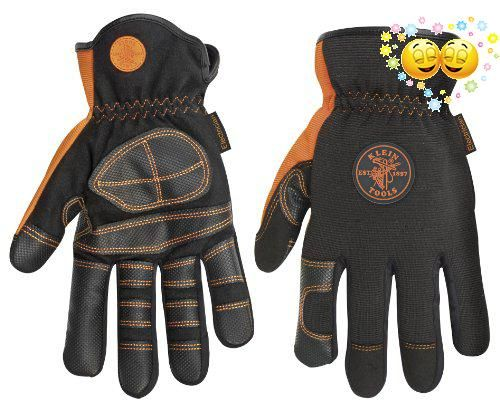 #christmas The #Klein #40072 Electrician's Gloves are a size large and feature a unique palm and finger material that provides durability and slip resistance when...