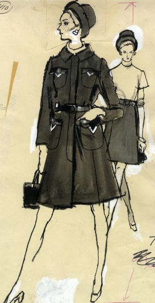 fashion illustration by fred greenhill 196074 two women