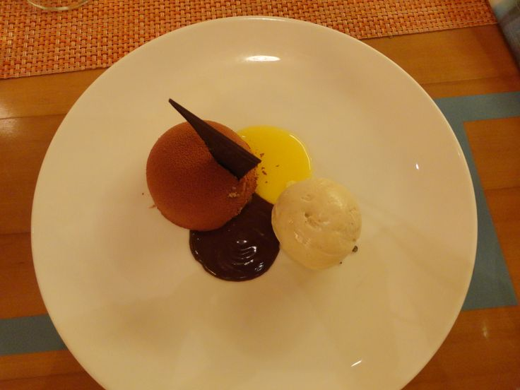 Chocolate Cream Cheese Truffle and Vanilla Ice Cream @ My Little Spanish Place, Holland Village