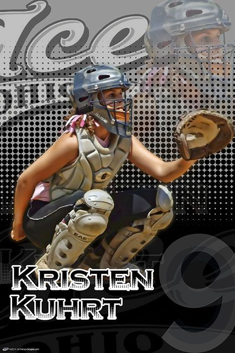 personalized softball poster player gifts ohio ice team sports