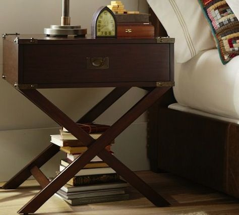 the devon campaign nightstand by pottery barn. Great bones! Return to Home Interiors |