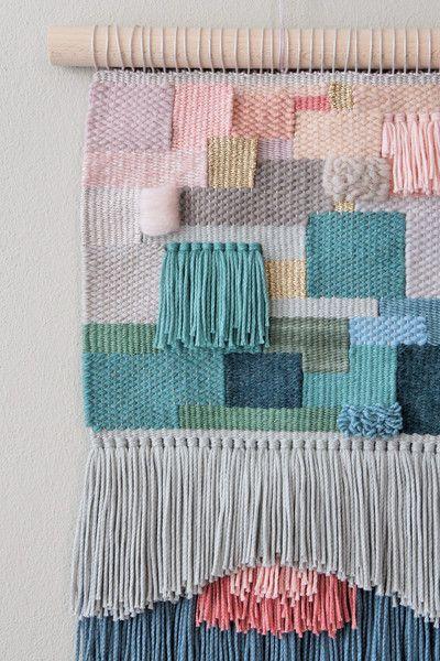 Handgewebter+Wandteppich+ALEXEI+von+wednesdayweaving+auf+DaWanda.com