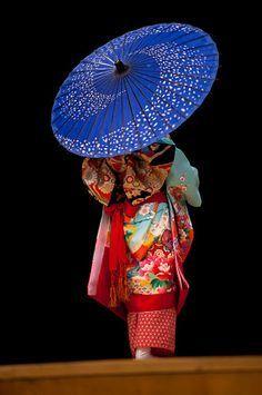 back of a kimono under a parasol - Google Search