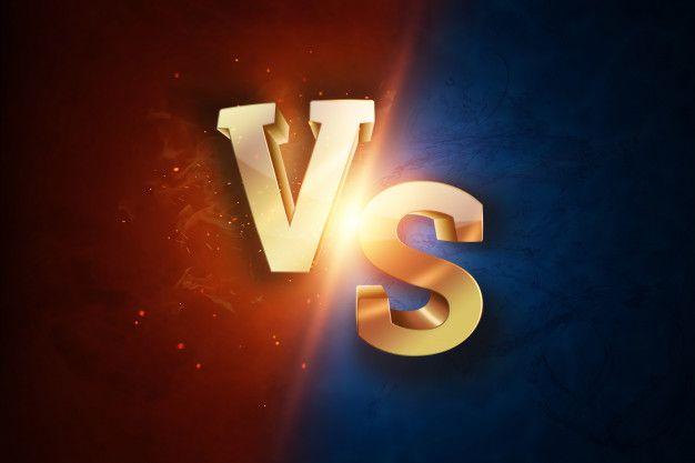 Golden Versus Logo Letters For Sports And Wrestling Premium