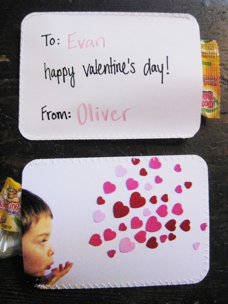 une jolie idée pour une carte de Saint Valentin...