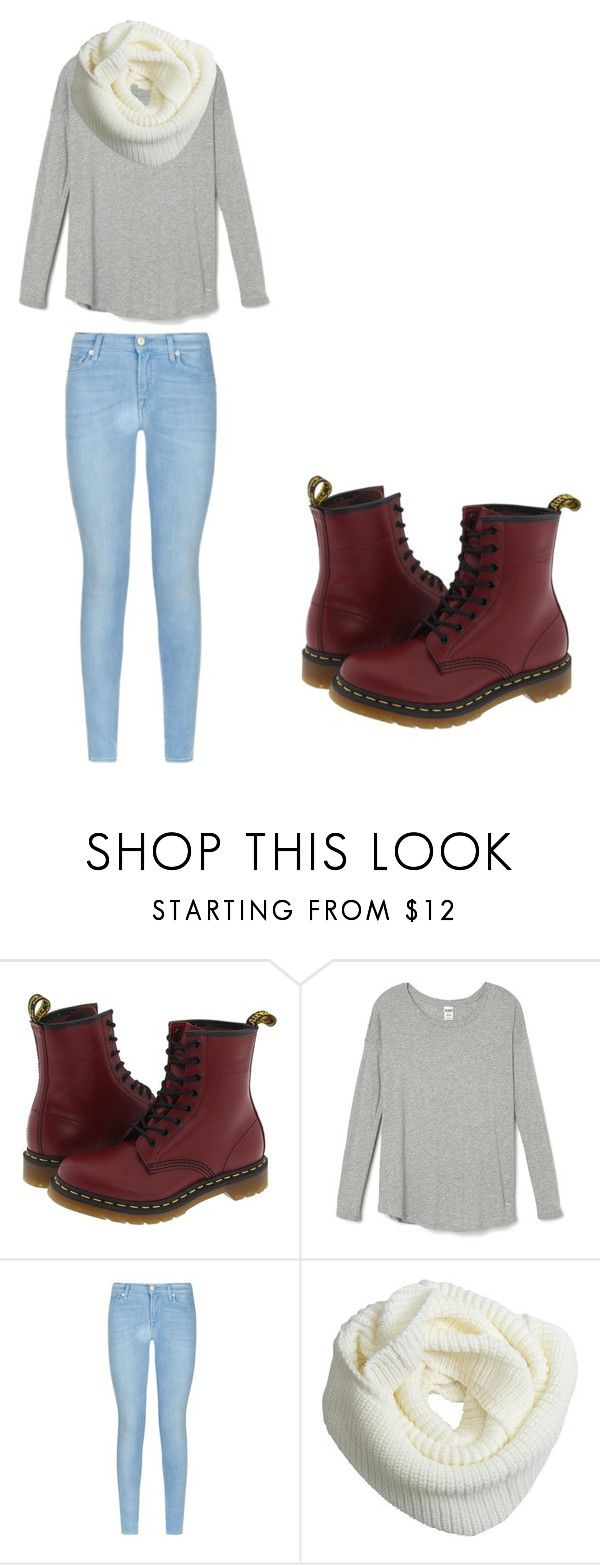 """Fall Hipster Outfit"" by vickerygk on Polyvore featuring Dr. Martens, 7 For All Mankind, Fall and Hipster"