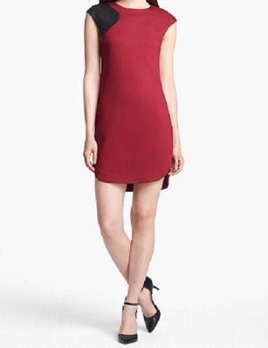 Trina Turk Dress Red Size 8 Missy Ponte Stretch Shift Above Knee Mini New #TrinaTurk #Shift #WeartoWork