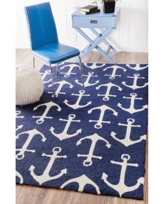 nuLOOM Nuloom Indoor/ Outdoor Novelty Nautical Anchors Area Rug (8 X 10) from Overstock.com | BHG.com Shop