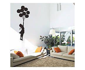 Adesivo da parete Banksy Balloon Floating - 60x130 cm