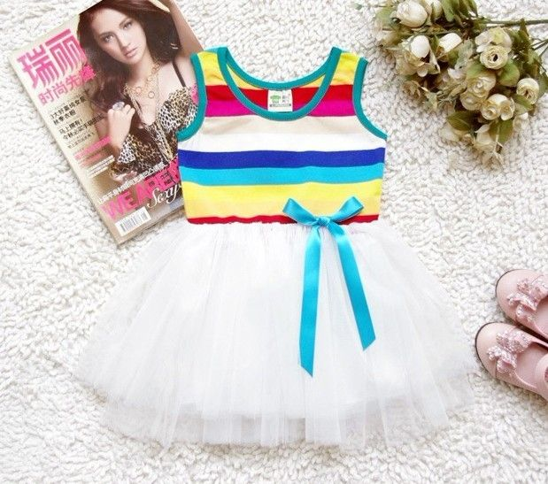 Rainbow Tutu Dress — Affordable funky clothes for girls and boys and cool kids accessories.