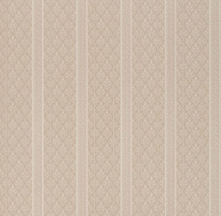 Brewster Wallpaper 2537-M3937 Ercole Beige Brocade Stripe