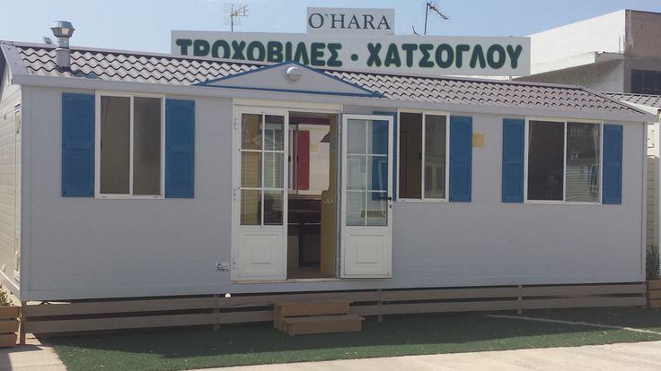 Τροχοβίλα 2 υπνοδωματίων με κουζίνα, σαλόνι, μπάνιο & wc. Επίπλωση και οικιακός εξοπλισμός(θερμοσίφωνο-κουζίνα-θέρμανση-ψυγείο) περιλαμβάνονται! Μεταφορά + εγκατάσταση σε όλη την Ελλάδα! Τροχοβίλες Γαλλίας O'Hara - Χατσόγλου www.trohovilla.gr