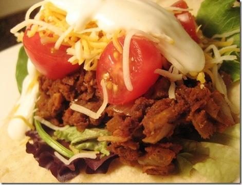 10 min. Spiced Lentil Mushroom Tacos (WW 8pts?)