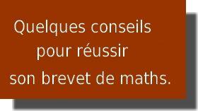 sujets brevet de maths et exos du brevet maths