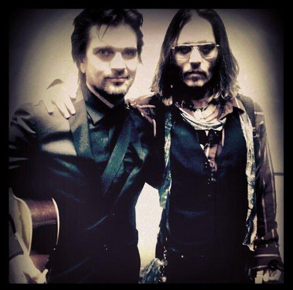 con Johnny Depp