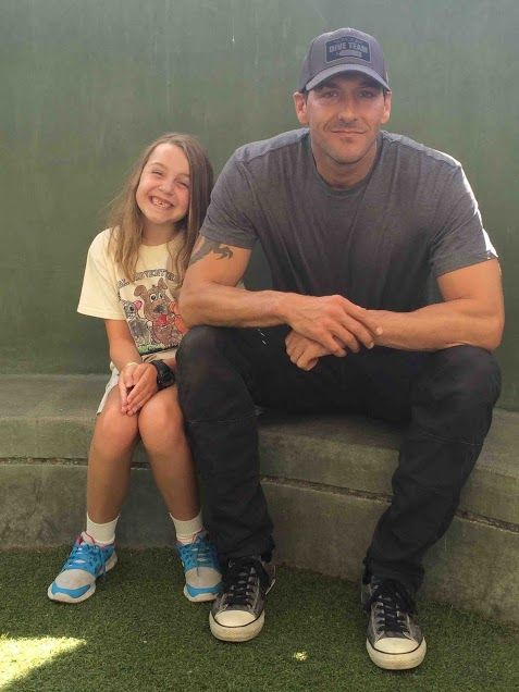 Brandon McMillan on set with the Blount Family while ...