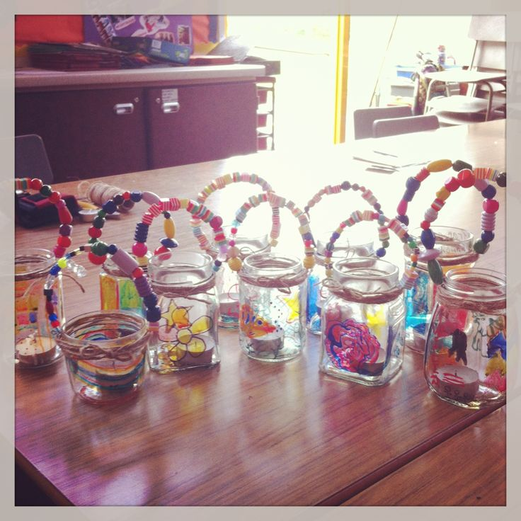 Garden lanterns, jam jars