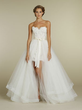 2 in 1 Wedding Dress With Removable Skirt Stunning