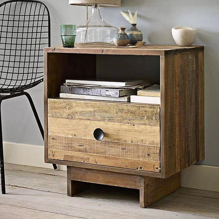 25 best ideas about pallet end tables on pinterest wood for Inexpensive bedside tables