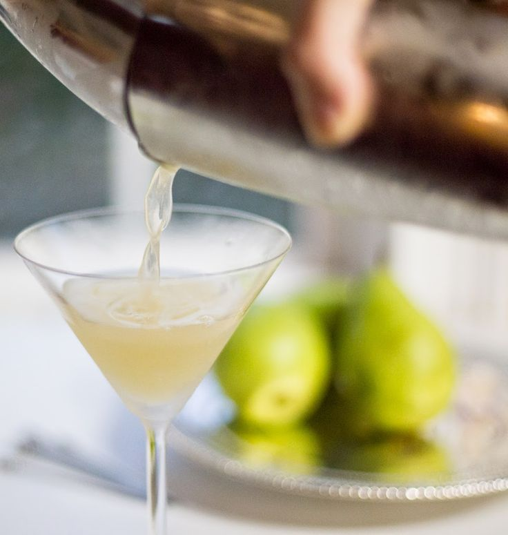 Pear Vodka Martini | Delicious pear nectar is mixed with a pear-infused vodka, some simple syrup, and a squirt of fresh, tart, lemon juice. Simple, sweet, and fruity, this is a martini to sip.