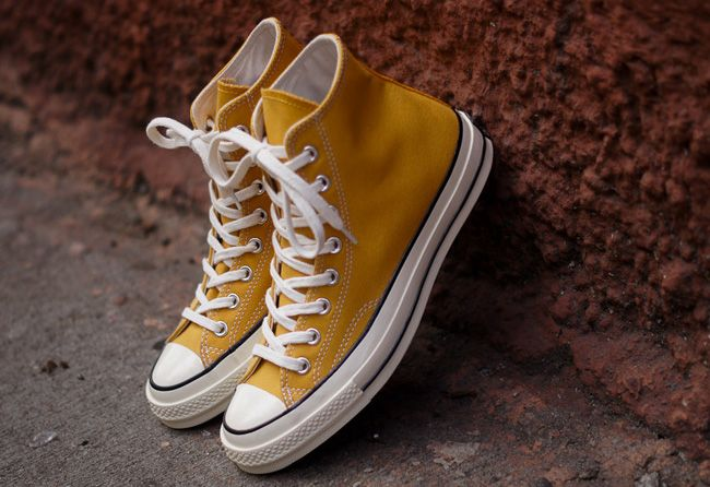 Converse First String 1970s Chuck Taylor Hi Yellow ...