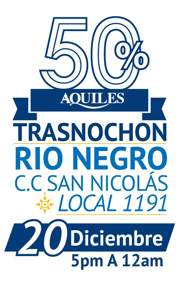 Gran Trasnochon C.C. San Nicolas - Rio Negro. El 20 de Diciembre 2014 de 5pm A 12am.