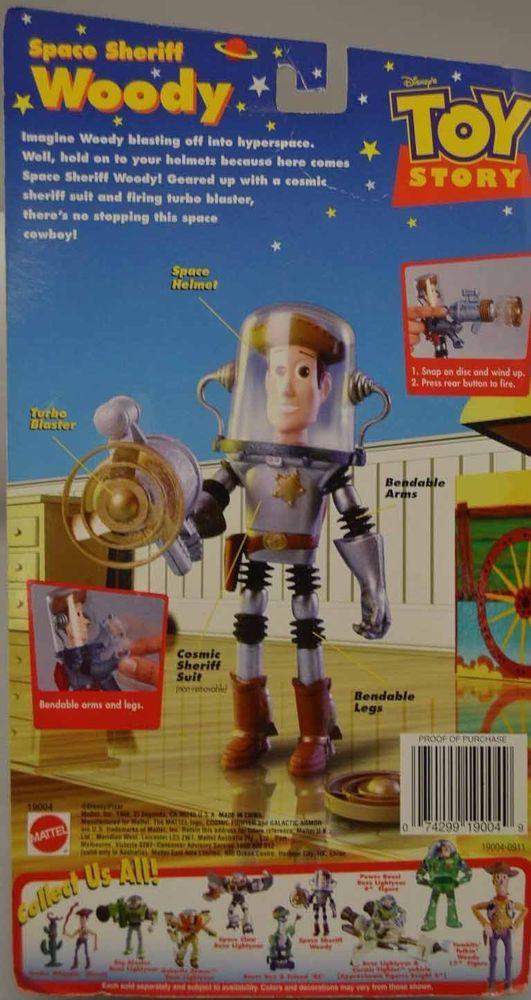 Toy Story Space Sheriff Woody Firing Turbo Blaster Action Figure 1998 Mattel NEW #Disney