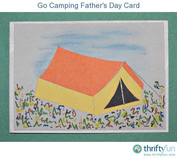 Make this Father's Day DIY card for a father that loves spending time in the outdoors.