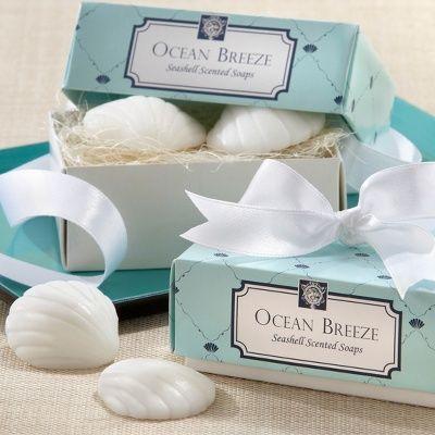 Ocean Breeze Seashell Scented Soaps Wedding Favor | Soap Wedding Favors