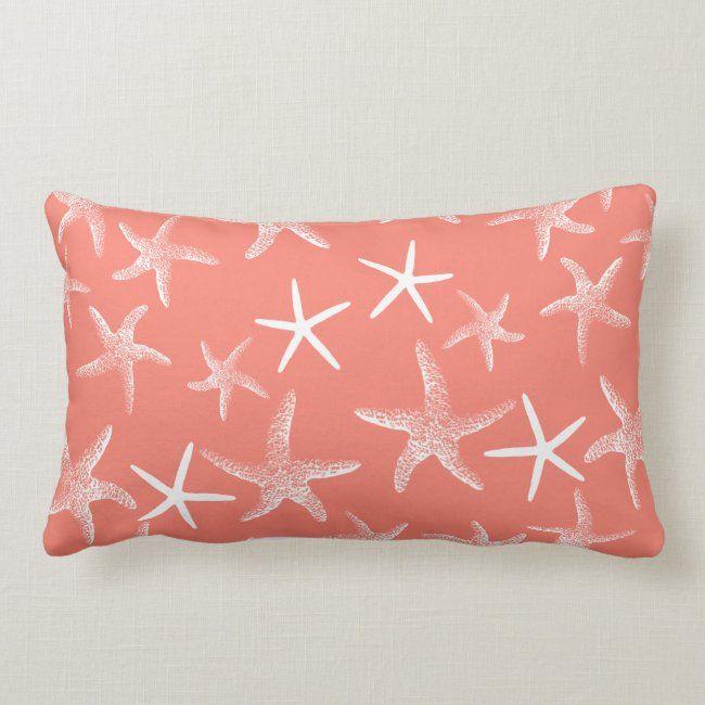 Salmon Pink Starfish Decorative Lumbar Pillow Zazzle Com In 2020 Decorative Lumbar Pillows Long Lumbar Pillow Target Pillows