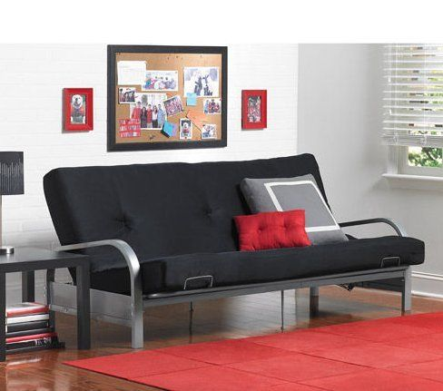 Whether using it as a sofa or a bed, this Metal Arm Futon Frame will bring contemporary styling and functionality to any room in #your home. The Metal Arm Futon ...