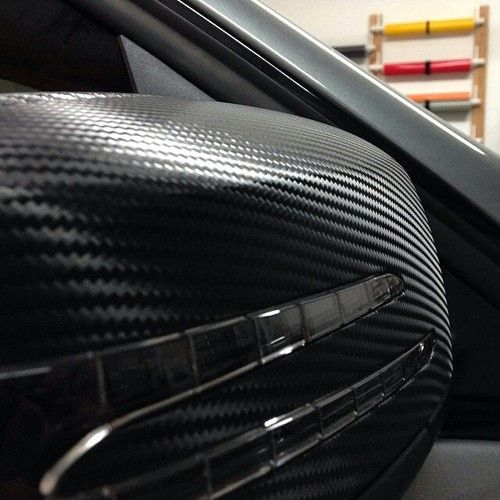 Carbon Fiber Wrapped Mirrors And Gloss Black Window Trim