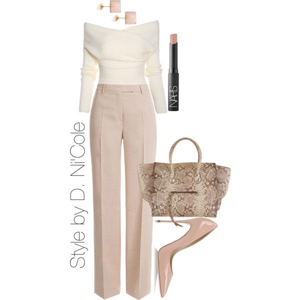 A fashion look from February 2015 featuring Emilio Pucci pants, Dolce&Gabbana pumps and Vita Fede earrings. Browse and shop related looks.