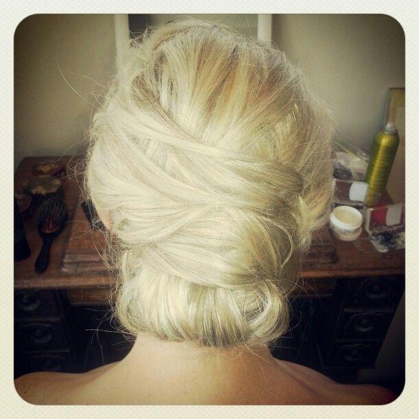 Bridal hair #bridal #blonde #hair #styledbymia