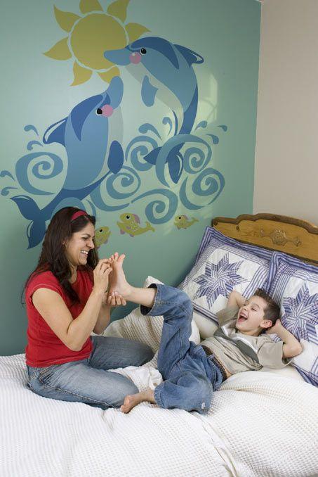 Dolphin decor room