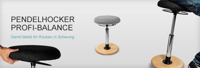 Bewegtes Sitzen auf einem Pendelhocker. Move your pelvis ;-) www.derdrehstuhl.de