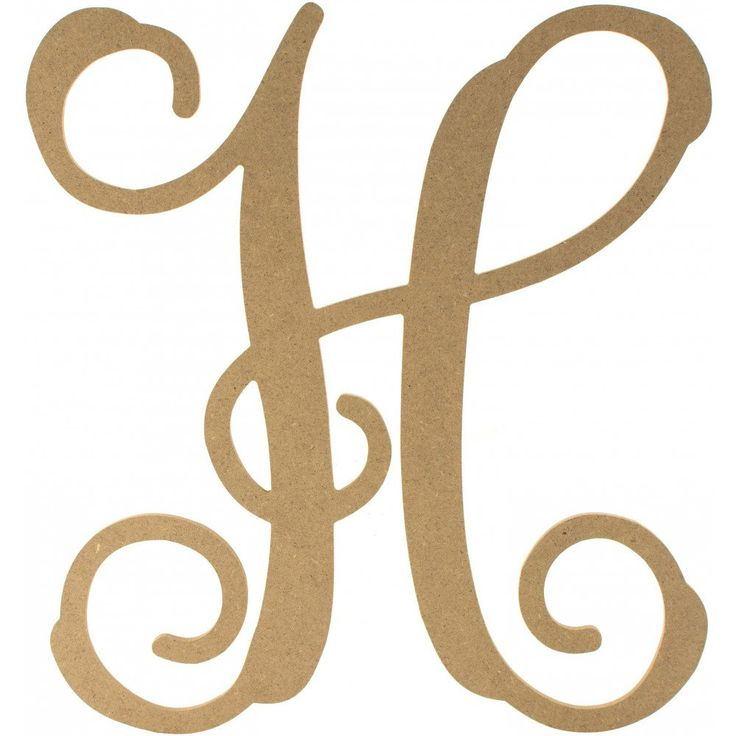 "12"" Wood Letter Vine Monogram: H                                                                                                                                                                                 More"