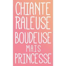 T-Shirt Design Chiane boudeuse raleuse mais princesse