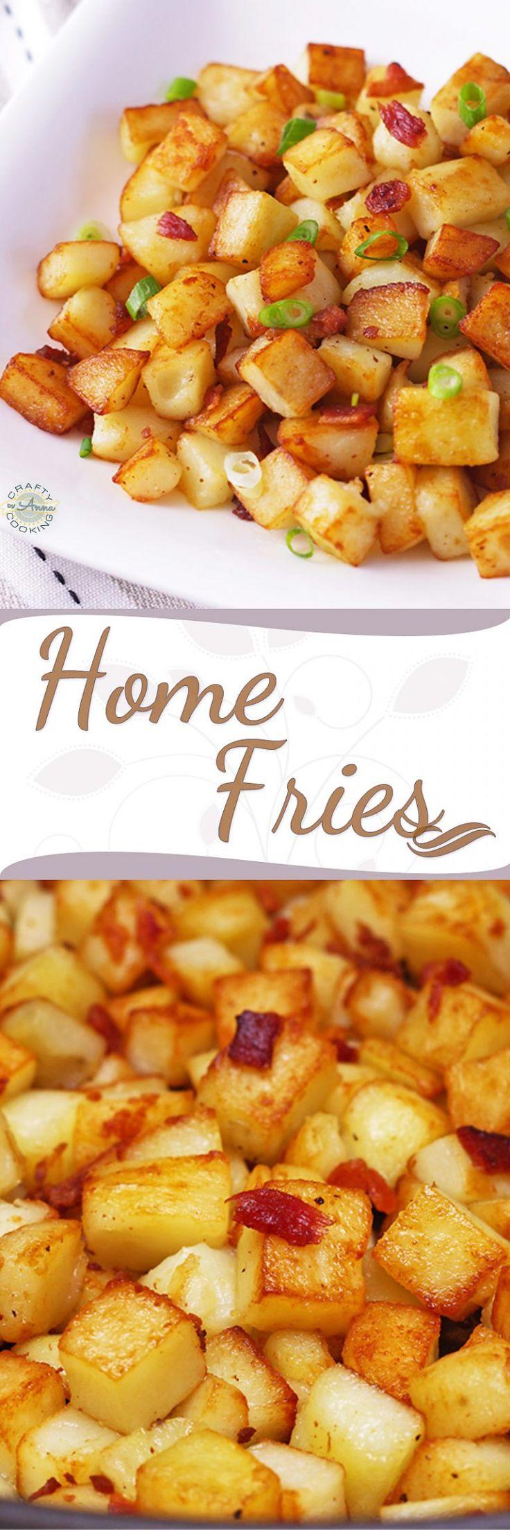 Easy Home Fries (Домашняя Жареная Картошка). VIDEO RECIPE!