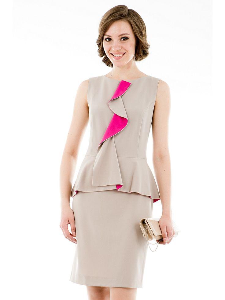 Платье Levall. Цвет бежевый.