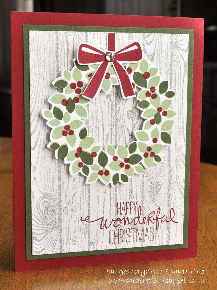 Wondrous Wreath Christmas Card Creations by Beth