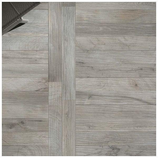 Grey Wood Tile | ... Edimax › Edimax Wood_Ker Grey Glazed Porcelain Floor Tile 100x14.4cm