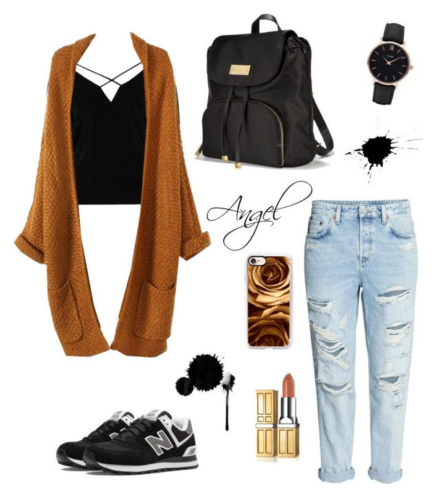 #School📚by Angel1324❤️on Polyvore featuring polyvore, moda, style, River Island, New Balance, Victoria's Secret, CLUSE, Casetify, fashion, clothing and school