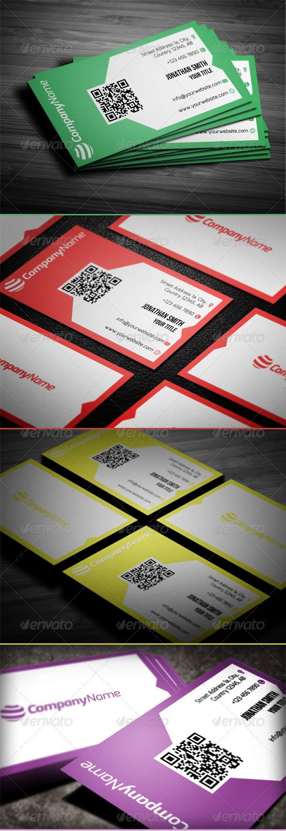 117 best Business cards PSD with QR code images on Pinterest ...