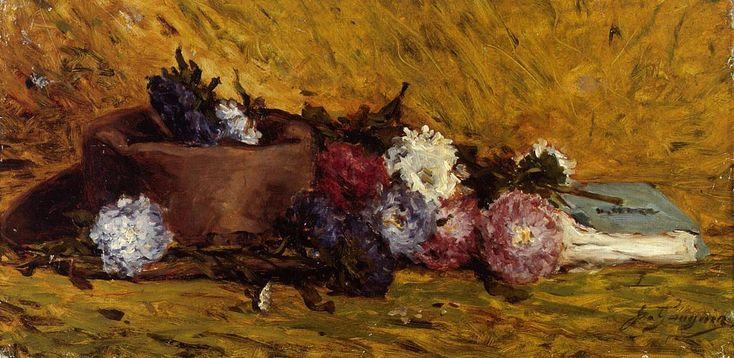 Paul Gauguin - Nature morte aux Asters de Chine, chapeau et livre