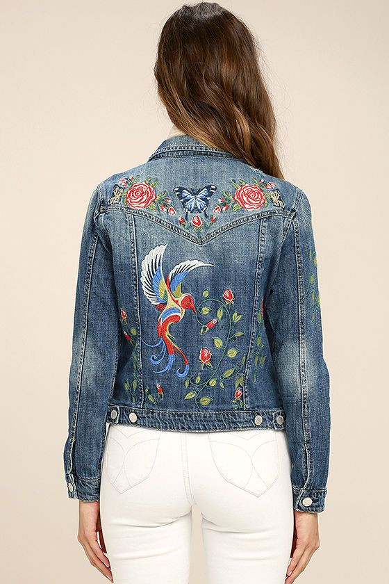 Blank NYC Wild Child - Denim Jacket - Embroidered Jacket - $148.00