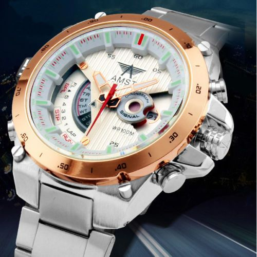 Quartz-Waterproof-Stainless-Steel-Watch-Wrist-Date-Sport-Analog-Luxury-AMST-3008