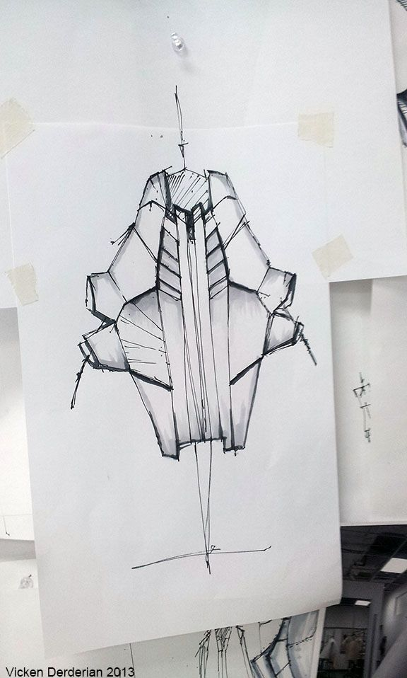 Futuristic, geometric design...